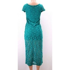 Xhilaration Dresses - Xhilaration Womens Dress Midi Long Green Eyelet